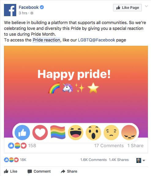 """Facebook đã cho phép chúng ta """"thả cầu vồng"""", đây là cách làm điều đó"""
