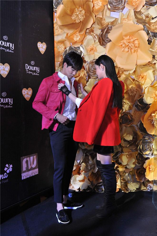 Trương Quỳnh Anh - Tim chăm diện thời trang ton-sur-ton nhất mỗi khi song hành trên thảm đỏ- Ảnh 7.