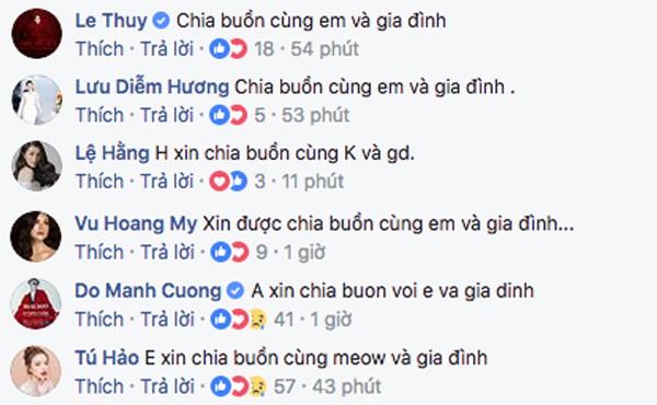Á hậu Hoàng My và loạt sao Việt gửi lời chia buồn khi hay tin ông của Lan Khuê qua đời - Ảnh 2.