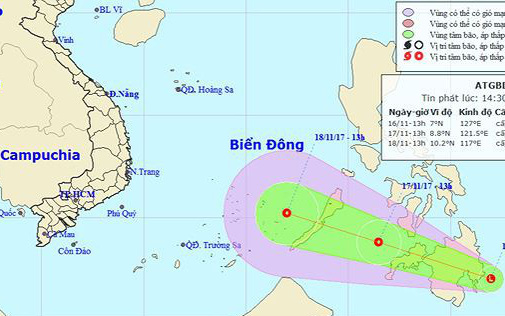 Biển Đông có thể tiếp tục đón áp thấp nhiệt đới