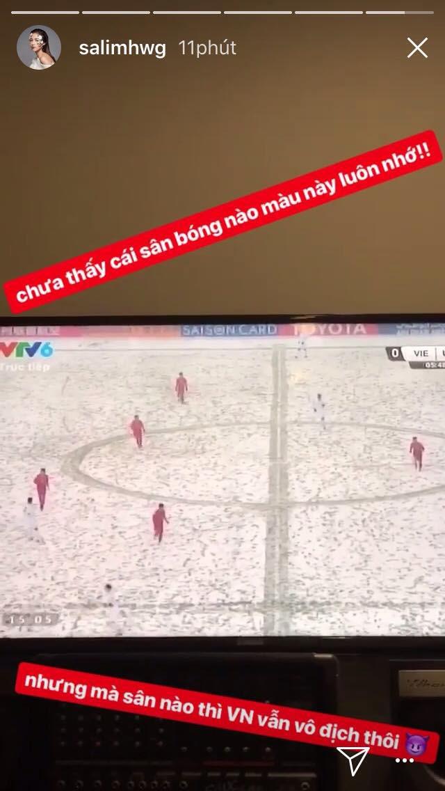 Nghệ sĩ Việt xót xa khi chứng kiến U23 Việt Nam thi đấu trong thời tiết giá lạnh, tuyết phủ kín sân - Ảnh 5.