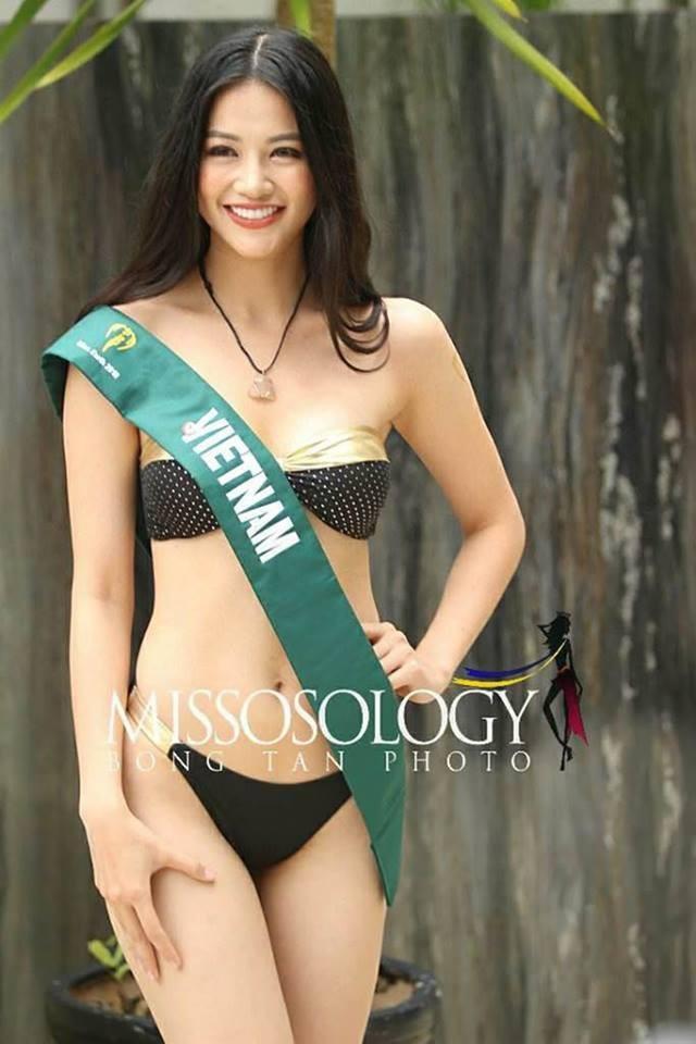 Thí sinh Hoa hậu Trái đất 2018 lộ body thừa cân, ngấn mỡ trong phần thi trình diễn bikini - Ảnh 1.