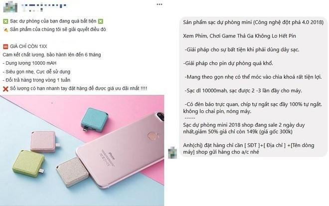 """Mắc phải """"cú lừa"""" khi mua pin dự phòng trên Facebook: Shop mô tả 10.000 mAh, nhận về cục pin 1.000 mAh - ảnh 1"""