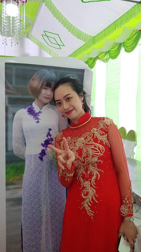 Dù đang ở Nhật Bản, nhưng cô nàng này vẫn được in ảnh to bằng người thật đến check-in đám cưới bạn thân - ảnh 2