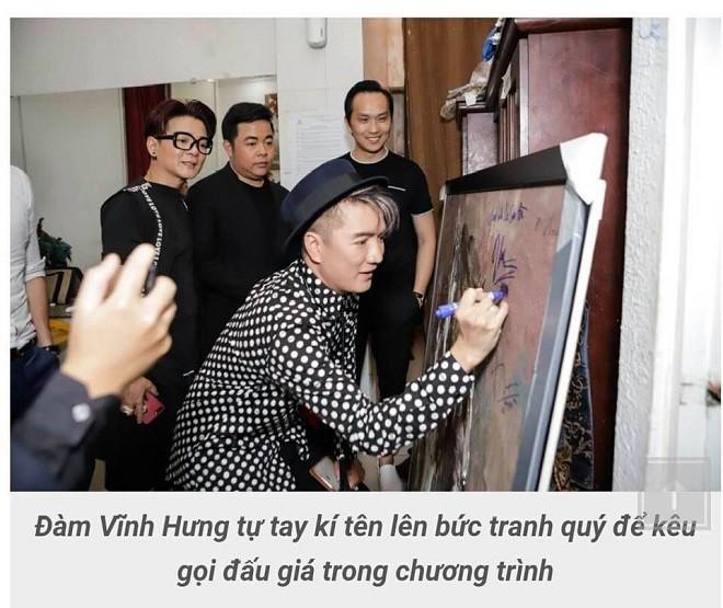Bị chỉ trích dữ dội vì ký tên lên tranh quý đấu giá, Đàm Vĩnh Hưng lên tiếng - Ảnh 2.