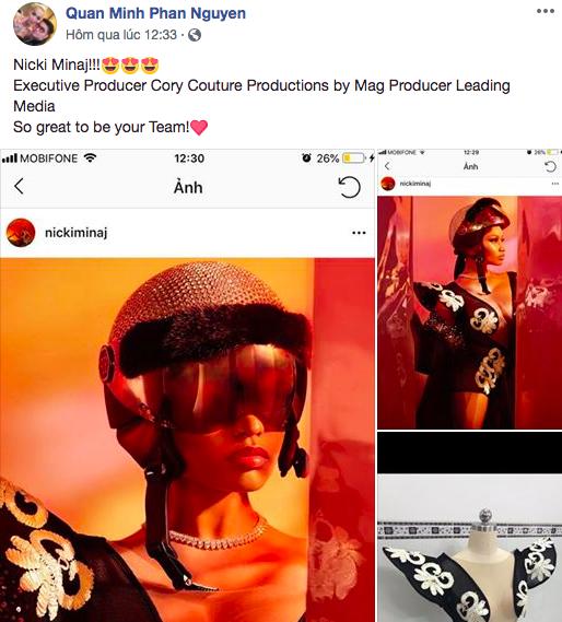 Lại thêm tin vui: Nicki Minaj diện đồ của NTK Việt, khoe ảnh siêu xịn trên Instagram 92 triệu follower! - ảnh 1