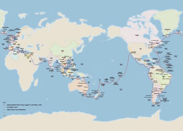 Ngắm nhìn Viking Sun - Siêu du thuyền có hành trình dài nhất thế giới: Ghé thăm 113 cảng tại 59 quốc gia - ảnh 2