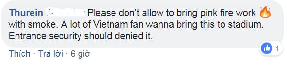 Cổ động viên Myanmar thỉnh cầu fan Việt Nam đừng mang pháo sáng đến sân - Ảnh 2.