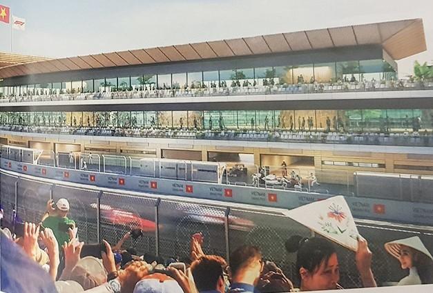 Hé lộ những hình ảnh phối cảnh đầu tiên về đường đua F1 tại Hà Nội - Ảnh 3.