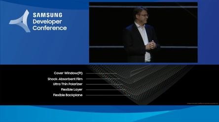 Smartphone màn hình gập của Samsung đỏng đảnh xuất hiện, chỉ khoe tí thôi chứ chưa có hàng chuẩn đâu - Ảnh 3.