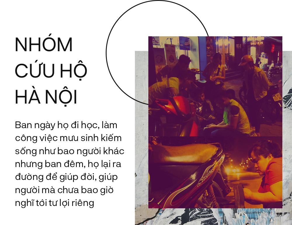 Nhóm cứu hộ Hà Nội - Những người trắng đêm ở Hà Nội để cứu hộ xe máy - Ảnh 3.