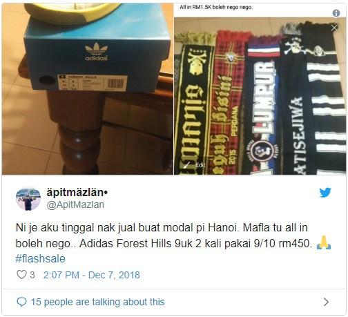 CĐV Malaysia khô máu, lên mạng thanh lý đồ đạc chỉ vì một tấm vé sang Mỹ Đình xem chung kết - ảnh 2