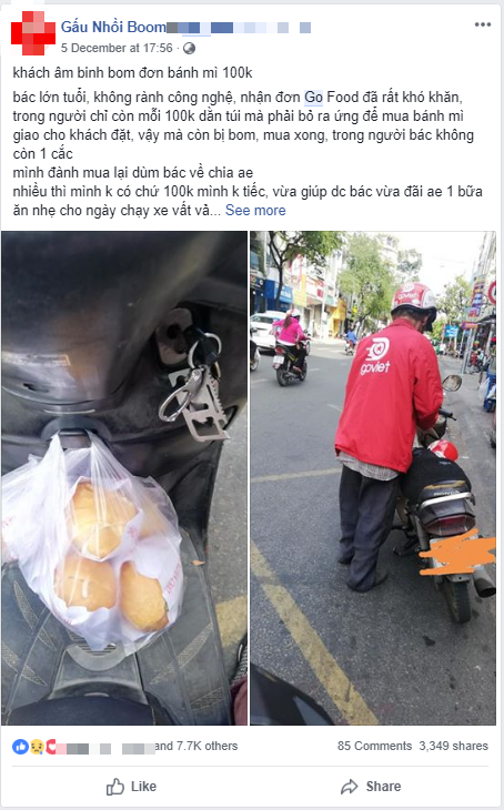 Bác tài xế già bị khách bom 8 ổ bánh mì và hành động đẹp của nam thanh niên khiến nhiều người ấm lòng - ảnh 1