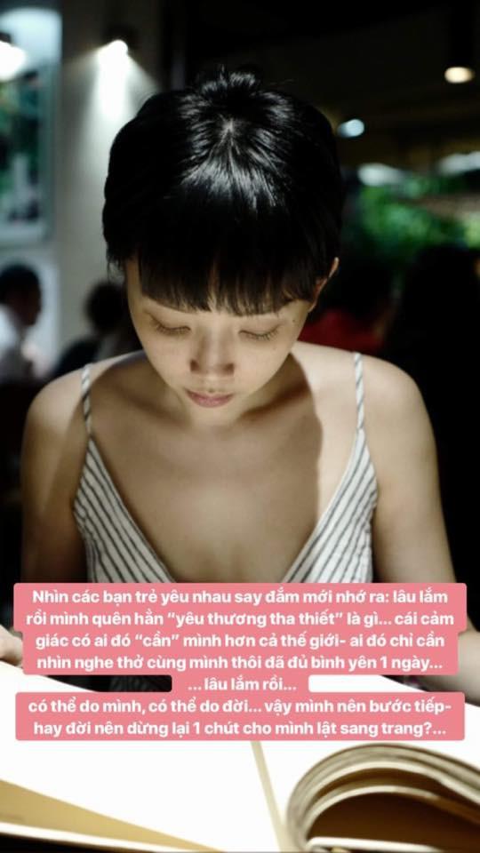 Hậu nghi vấn đã chia tay Hoàng Touliver, Tóc Tiên lại gây chú ý với chia sẻ đầy tâm trạng - Ảnh 1.