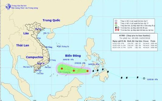 Bão Sanba suy yếu thành áp thấp nhiệt đới trước khi vào Biển Đông