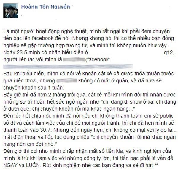 Ca sĩ Vpop chạnh lòng tiết lộ những lần bị bầu show quỵt tiền cát-sê - Ảnh 2.