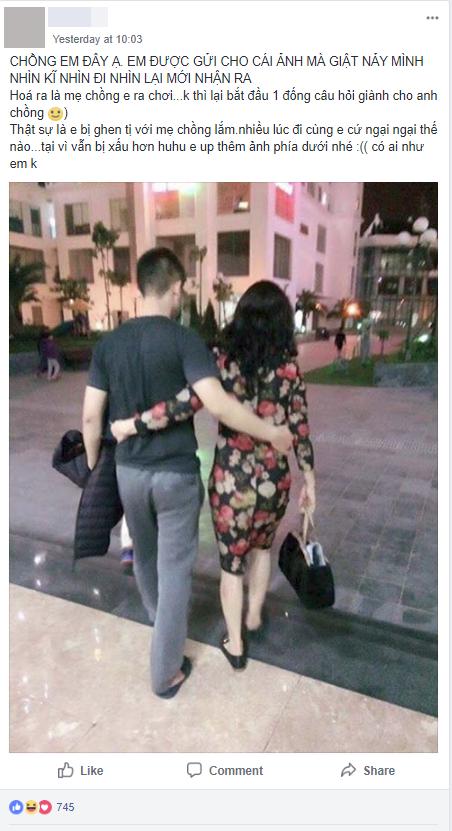 Hốt hoảng khi thấy ảnh chồng ôm eo người phụ nữ lạ, vợ trẻ thở phào khi nhận ra danh tính thật của cô gái váy hoa - Ảnh 1.