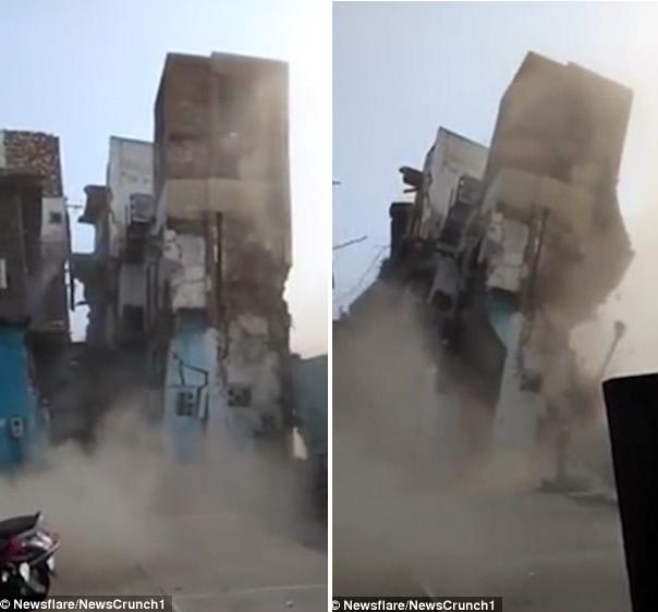 Clip: Căn hộ 3 tầng đổ sập vì bị hàng ngàn con chuột đục khoét dưới nền nhà - ảnh 1