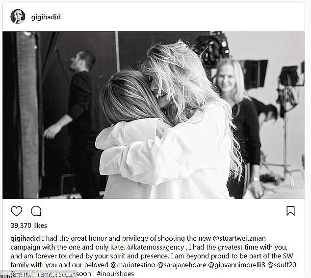 Đăng ảnh chụp với Gigi Hadid, Kate Moss chơi đểu khi cố tình che mặt đàn em - Ảnh 3.