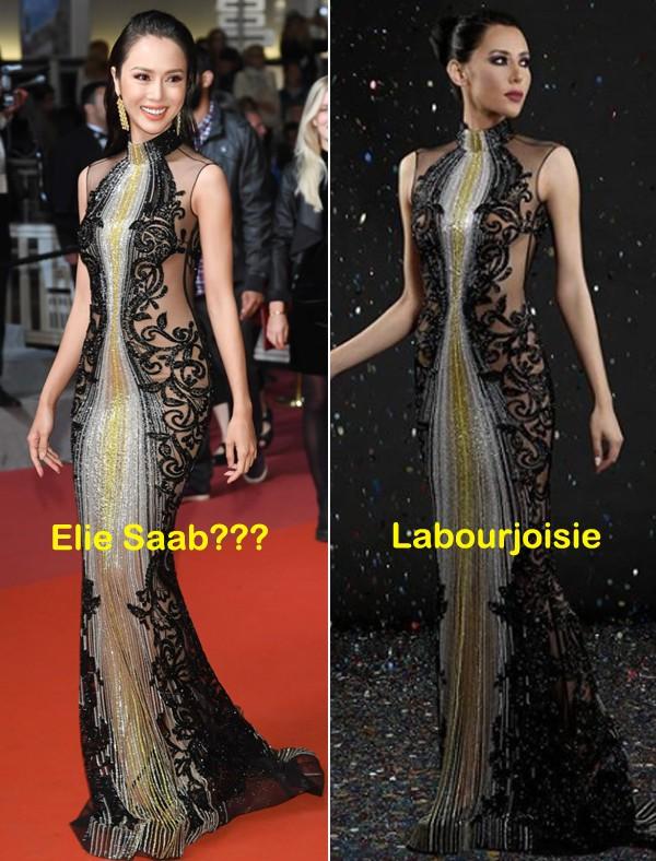 Xúng xính đi Cannes, Vũ Ngọc Anh bị netizen tố mặc thương hiệu ít tiếng nhưng lại nói là của Elie Saab - Ảnh 7.