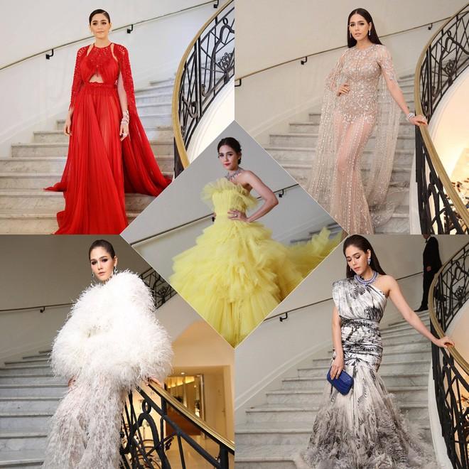 Chẳng phải Phạm Băng Băng hay dàn sao Hollywood, mỹ nhân Thái Chompoo Araya mới là người chiếm sóng thảm đỏ trong 5 ngày ở Cannes - Ảnh 1.