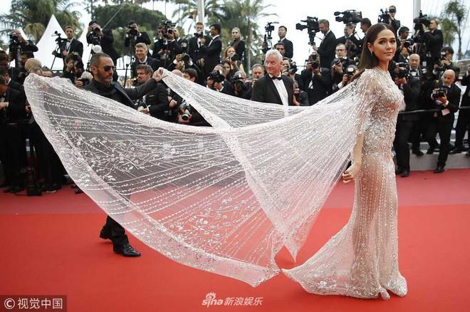 Chẳng phải Phạm Băng Băng hay dàn sao Hollywood, mỹ nhân Thái Chompoo Araya mới là người chiếm sóng thảm đỏ trong 5 ngày ở Cannes - Ảnh 6.