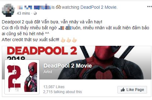 Fan Việt cười sảng sau khi xem bom tấn hài bựa Deadpool 2 - ảnh 5