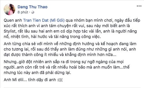 Đông Nhi, H'Hen Niê cùng loạt sao Việt sốc và bàng hoàng trước sự ra đi của stylist Mì Gói - ảnh 3