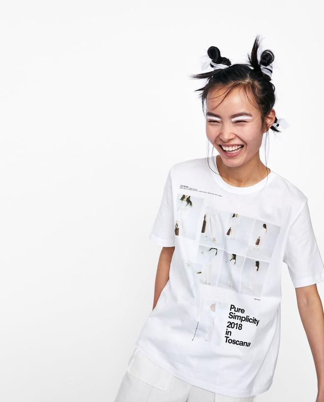 Nếu chán áo phông trắng trơn hay in chữ, Zara cùng H&M còn đủ kiểu áo in hình nổi bật mà giá chưa quá 500 ngàn đồng - ảnh 3