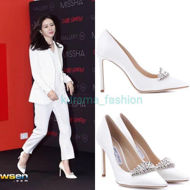 Diện đồ trắng rồi lại chọn giày cùng 1 hãng, chị đẹp Son Ye Jin và Nana thật khiến người ta không phân định được ai đẹp hơn - ảnh 5
