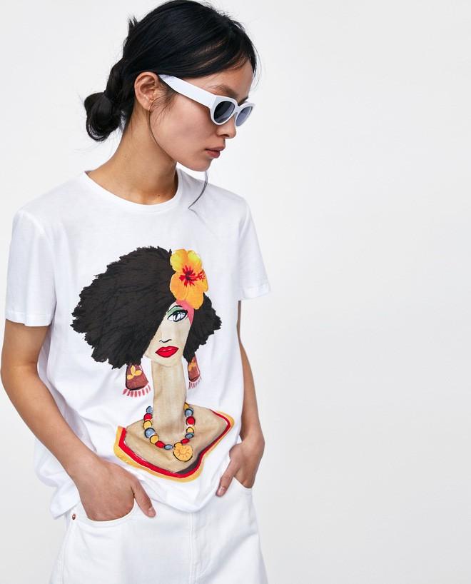 Nếu chán áo phông trắng trơn hay in chữ, Zara cùng H&M còn đủ kiểu áo in hình nổi bật mà giá chưa quá 500 ngàn đồng - ảnh 6
