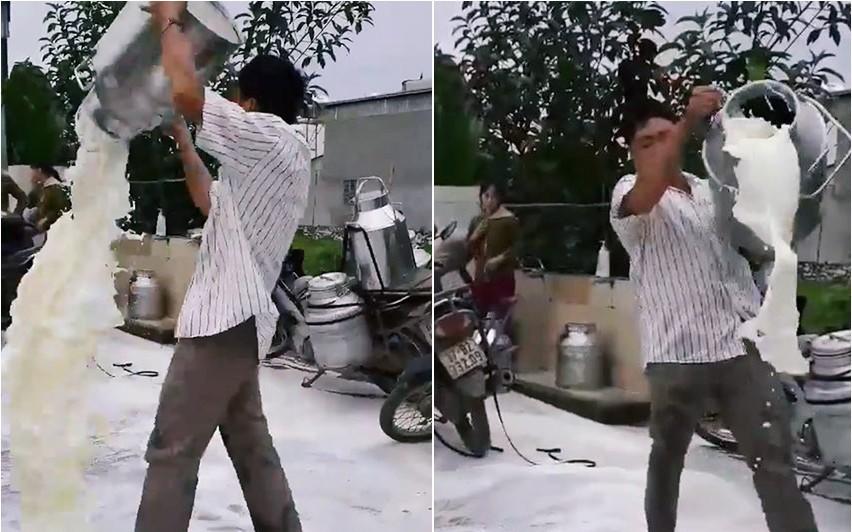"""Vợ người nông dân đổ sữa trắng xóa mặt đường ở Nghệ An: """"Chúng tôi vẫn nhập sữa bình thường, mức giá bao nhiêu thì chưa biết"""""""
