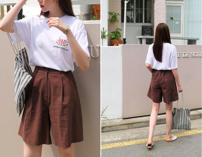 """""""Quần shorts của mẹ"""" - mốt quần mới năm nay đảm bảo mặc mát và hoàn toàn có thể diện tới sở làm - ảnh 7"""