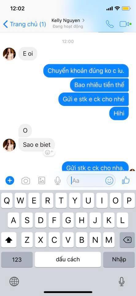 Kelly Nguyễn inbox Huyền Baby mượn tiền: Cẩn thận, là hacker đấy! - ảnh 5
