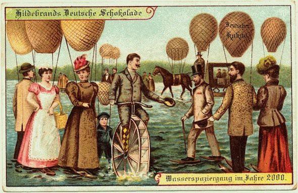 Năm 1900 người ta đã từng mơ tưởng về thế giới tương lai của năm 2000 ảo diệu đến thế này - ảnh 1