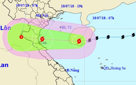 Bão số 3 tăng cấp 9, từ chiều tối nay sẽ ảnh hưởng trực tiếp đến khu vực ven biển Thái Bình - Hà Tĩnh