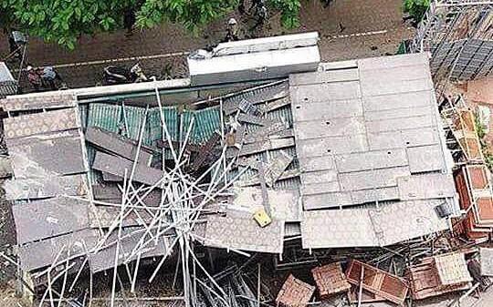 Vụ đứt cáp cẩu tháp công trình làm một người bị thương: Phạt 30 triệu đồng, tạm đình chỉ toàn bộ công trình
