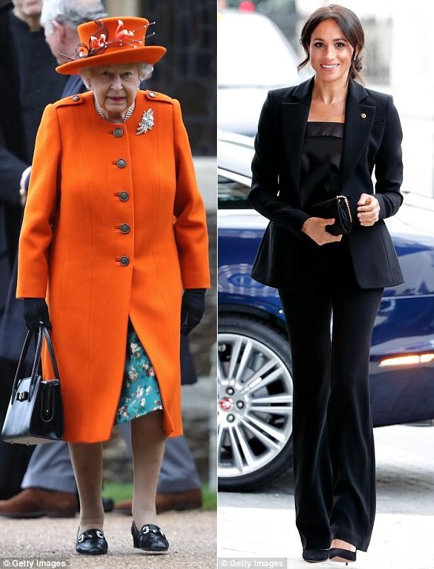 Chỉ mặc đúng một kiểu suốt mấy chục năm, Nữ hoàng Anh vẫn được nhận xét là có style xuất sắc hơn hẳn Công nương Meghan - ảnh 2