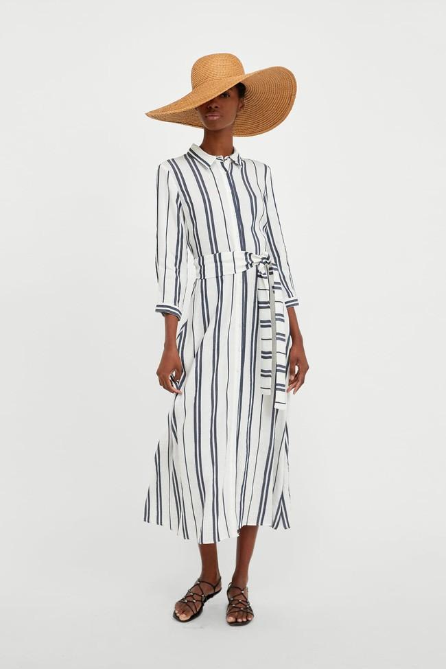 Duyên dáng như Hà Hồ diện váy liền dạo phố đón nắng thu, Zara và H&M cũng gợi ý 10 mẫu váy midi siêu nữ tính dành riêng cho bạn - ảnh 11