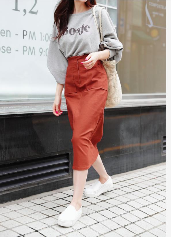Tạm cất những thiết kế mỏng manh mềm mại, chân váy mùa thu năm nay lại thiên về kiểu đứng dáng thế này - ảnh 14