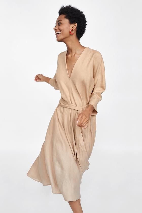 Duyên dáng như Hà Hồ diện váy liền dạo phố đón nắng thu, Zara và H&M cũng gợi ý 10 mẫu váy midi siêu nữ tính dành riêng cho bạn - ảnh 5