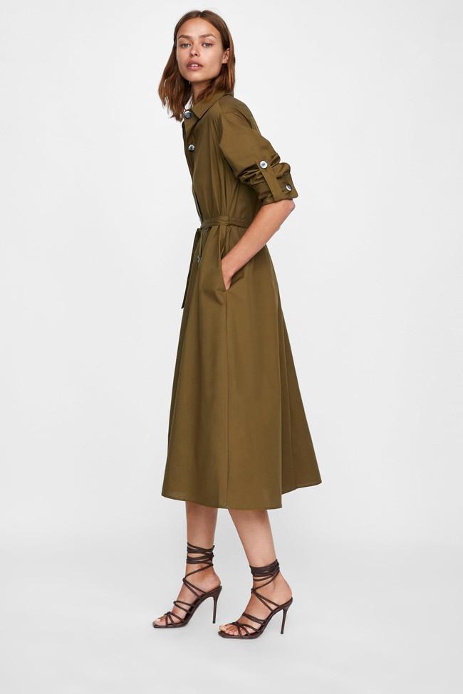 Duyên dáng như Hà Hồ diện váy liền dạo phố đón nắng thu, Zara và H&M cũng gợi ý 10 mẫu váy midi siêu nữ tính dành riêng cho bạn - ảnh 6