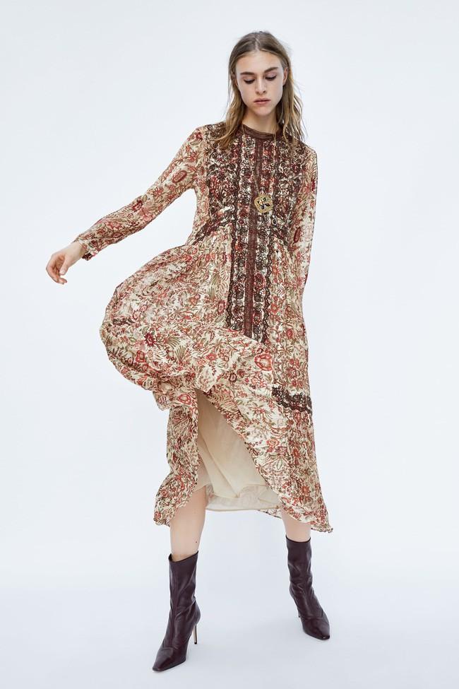 Duyên dáng như Hà Hồ diện váy liền dạo phố đón nắng thu, Zara và H&M cũng gợi ý 10 mẫu váy midi siêu nữ tính dành riêng cho bạn - ảnh 9