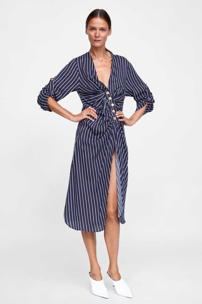 Duyên dáng như Hà Hồ diện váy liền dạo phố đón nắng thu, Zara và H&M cũng gợi ý 10 mẫu váy midi siêu nữ tính dành riêng cho bạn - ảnh 10