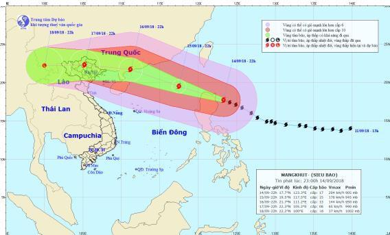 Hà Nội ra công điện hoả tốc nhằm ứng phó với siêu bão Mangkhut sắp vào biển Đông - ảnh 1