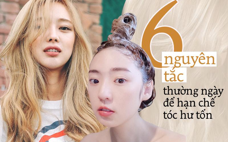 Khắc phục 90% tóc hư tổn chỉ cần tuân thủ những nguyên tắc thường ngày sau