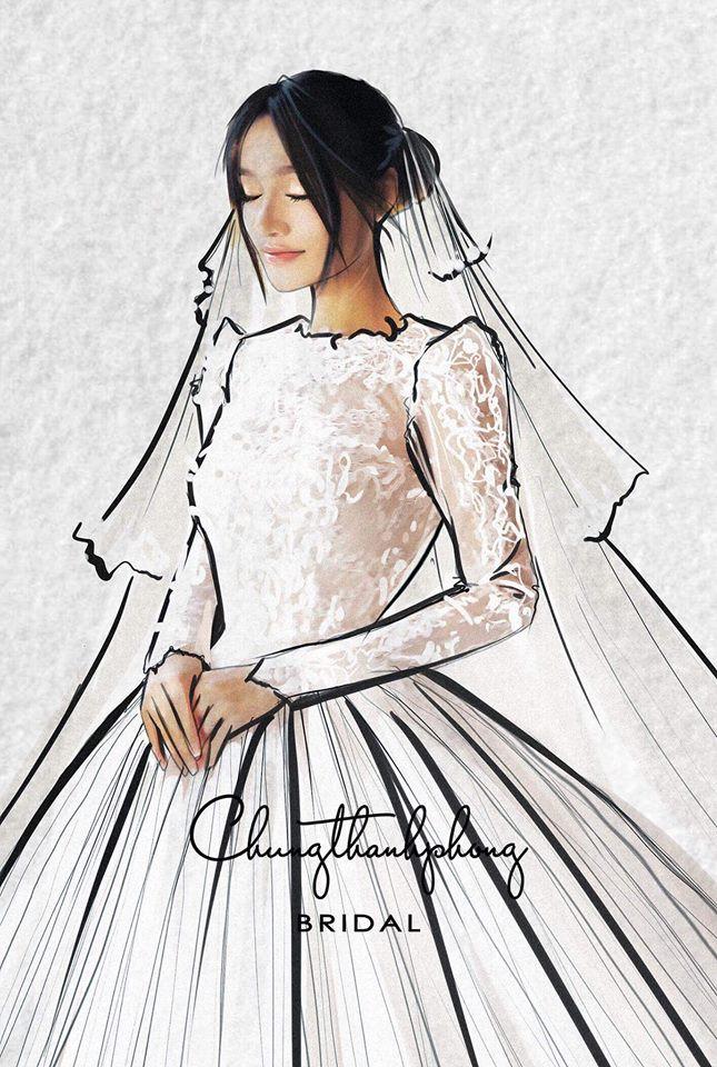 Váy cưới Nhã Phương nhìn hao hao váy cưới Hoa hậu Đặng Thu Thảo - Ảnh 5.