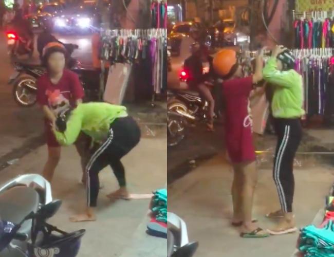 Bắt quả tang chồng chở bồ nhí đi ngoài đường, vợ bầu nhanh chóng lao đến túm tóc đánh ghen dằn mặt - ảnh 1