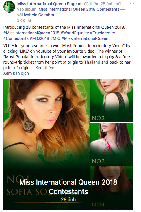 Hoa hậu Chuyển giới Quốc tế vừa khởi động, Hương Giang đã được ủng hộ nồng nhiệt với lượng bình chọn áp đảo - Ảnh 2.