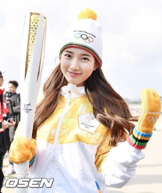 Lóa mắt trước dàn sao hạng A rước đuốc chào Thế vận hội mùa đông 2018: Hết nữ thần lại đến nam thần hội tụ - Ảnh 2.